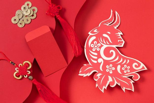 Chiński nowy rok z koncepcją wołu
