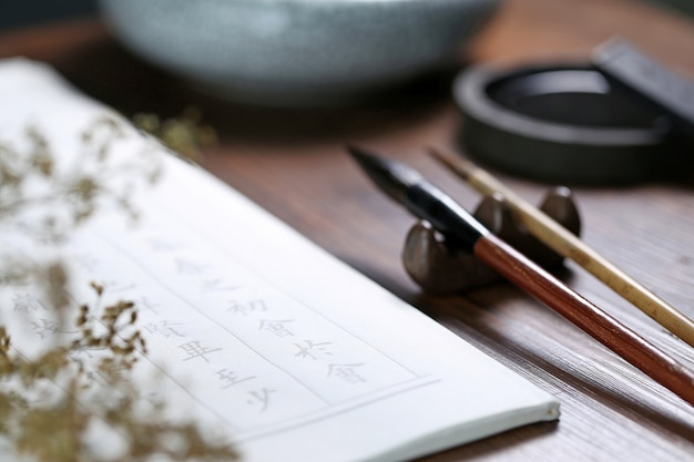 Chiński tekst kaligrafii sceny: chiński proza starożytna