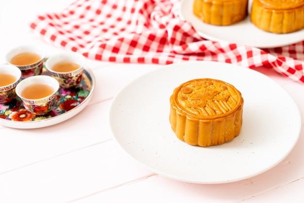 Chiński tort księżycowy na chiński festiwal w połowie jesieni