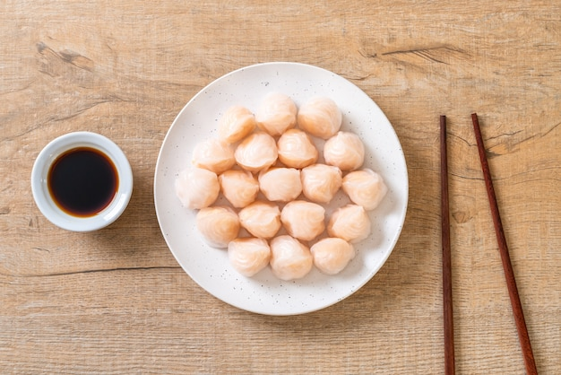 Chińskie krewetki na parze