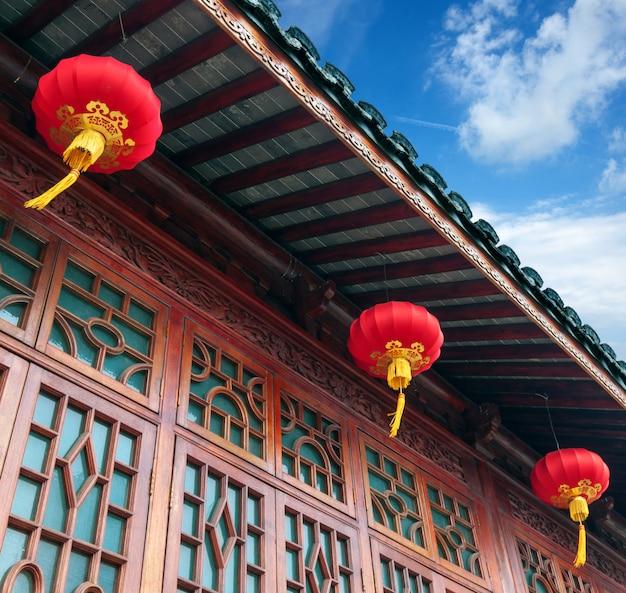 Chińskie starożytne budynki
