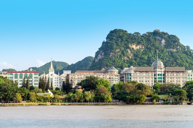 Chiny guangxi liuzhou panoramę miasta