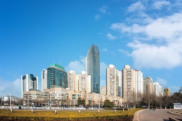 Chiny qingdao city architektura krajobraz