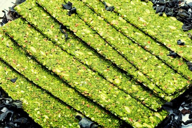Chipsy z wodorostów i spiruliny, wegetariańskie