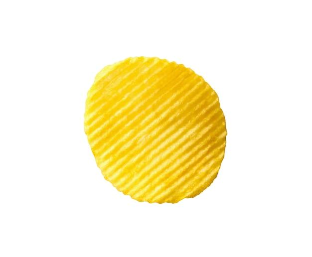 Chipsy ziemniaczane przekąska na białym tle na białym tle ze ścieżką przycinającą