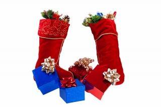 Chirstmas prezenty pończochy