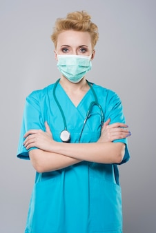 Chirurg przed poważną operacją