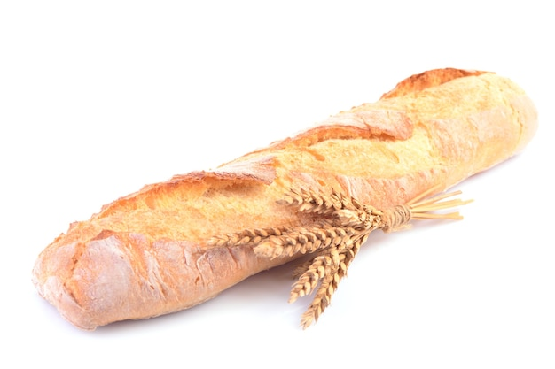 Chleb na białym tle