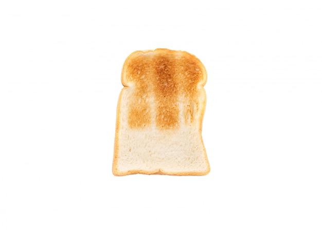 Chlebowa grzanka na odosobnionym bielu