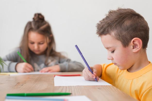 Chłopiec i dziewczynka malarstwo