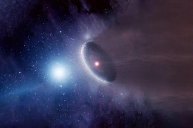 Chmura gazu wokół gwiazd. elementy tego obrazu dostarczyła nasa. zdjęcie wysokiej jakości