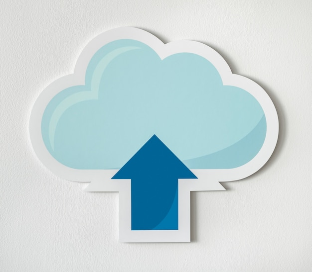 Chmura ładująca grafikę technologii ikon