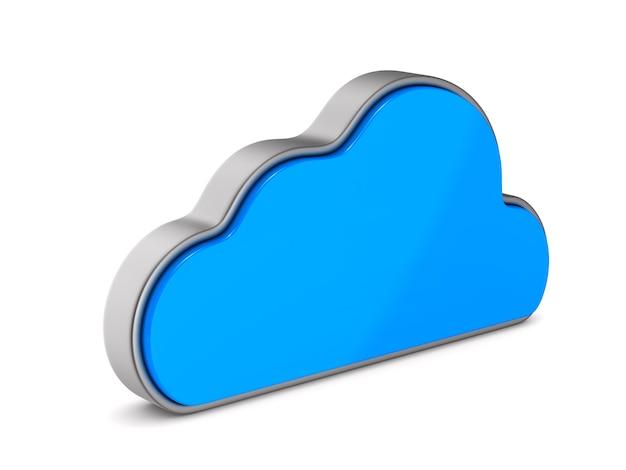 Chmura na białym tle. izolowana ilustracja 3d
