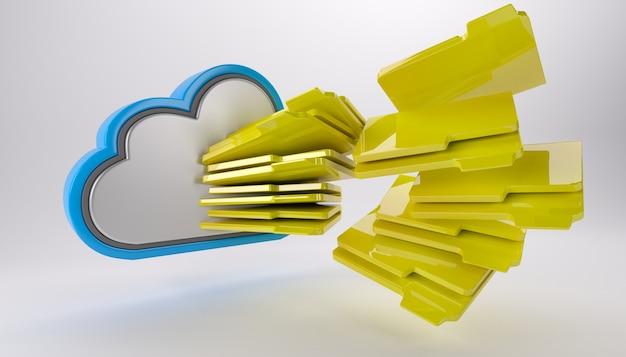 Chmura z wieloma folderami