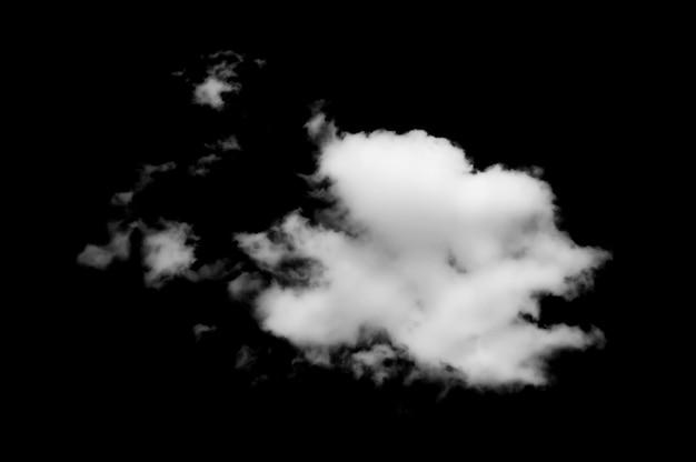 Chmury na czarnym tle