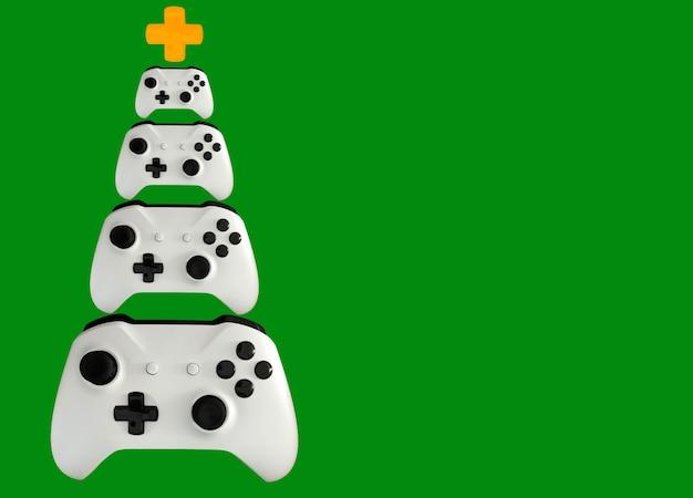 Choinka wykonana z kontroli gier wideo