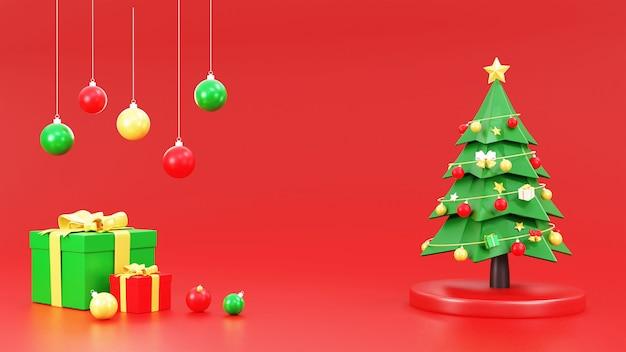 Choinka z dekoracjami świątecznymi