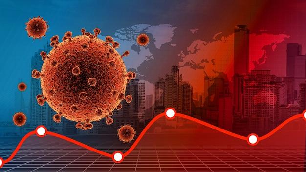 Choroba koronawirusowa zakażenie covid19 medyczne choroba koronawirusowa 2019 miasto i wykres covid19