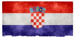 Chorwacja grunge flag