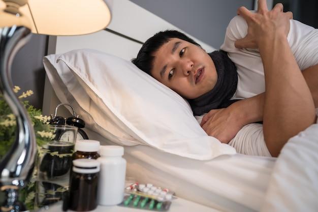 Chory czuje się zimno w łóżku