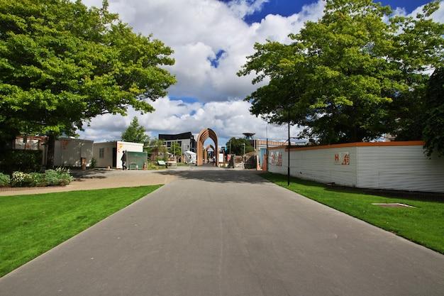 Christchurch na południowej wyspie w nowej zelandii