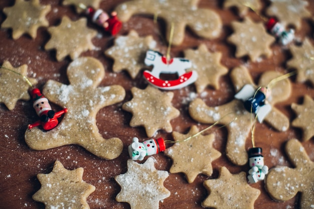 Christmas dekoracji imbir ciasteczka
