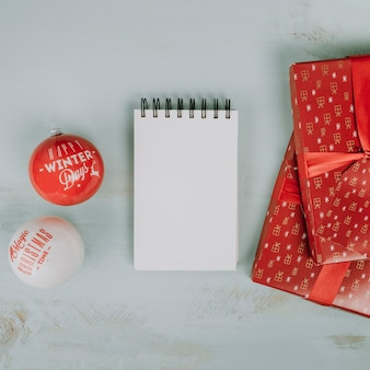 Christmas kulkami i notatnika