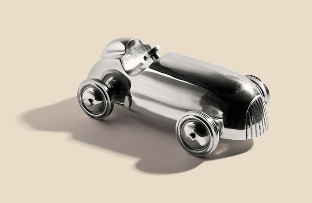 Chromowany Srebrny Samochód Zabytkowy Premium Zdjęcia