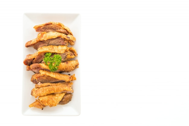 Chrupiąca pieczona wieprzowina dania gotowanie