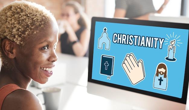Chrześcijaństwo kościół krzyż krucyfiks wiara religia koncepcja