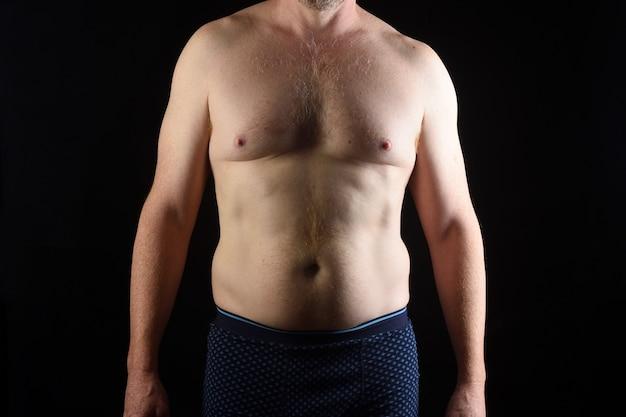 Ciało człowieka na białym tle widok z przodu