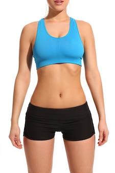 Ciało kobiety w odzieży fitness
