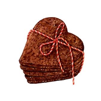 Ciasteczka czekoladowe akwarela.