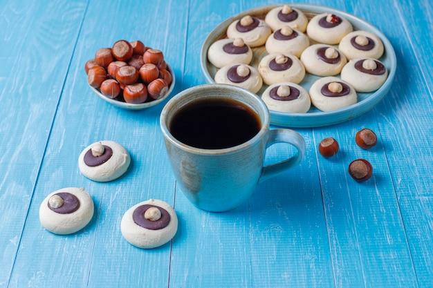 Ciasteczka orzechowe z orzechami laskowymi