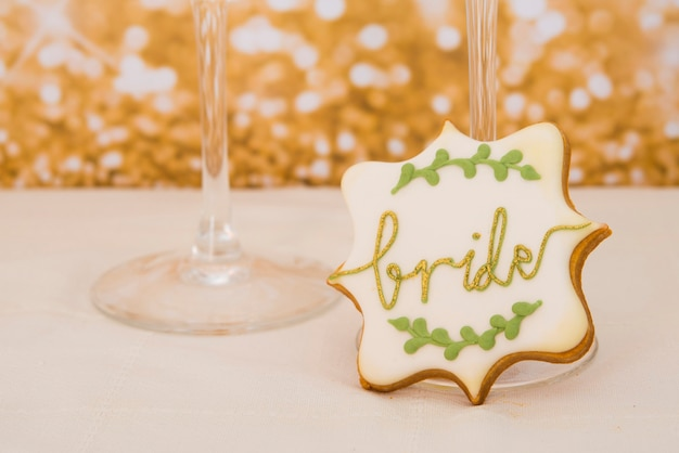 Ciasteczka w kształcie serca na wesele lub walentynki