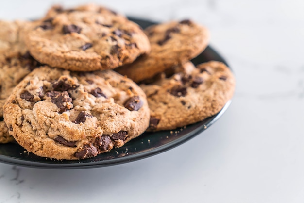 Ciasteczka z kawałkami ciemnej czekolady