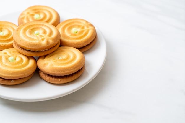 Ciasteczka z kremem pandan