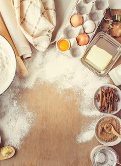 Ciastka, ciasta, gotuj własne ręce. selektywna ostrość.