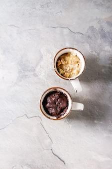 Ciasto czekoladowe i waniliowe