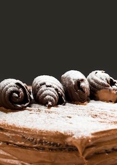 Ciasto czekoladowe z bliska