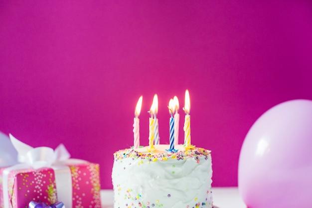 Ciasto deserowe ze świeczkami