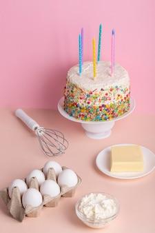 Ciasto i składniki o wysokim kącie