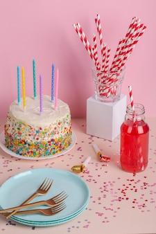 Ciasto i składniki pod dużym kątem