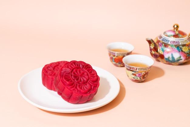 Ciasto księżycowe o smaku czerwonego aksamitu na święto środka jesieni