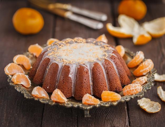 Ciasto mandarynkowe z wanilią. świąteczne wypieki.