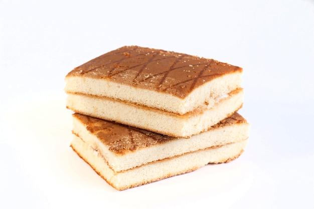 Ciasto na białym tle