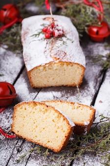 Ciasto, ozdobione na boże narodzenie