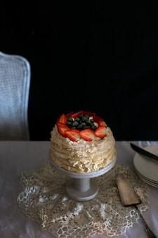 Ciasto truskawkowe pavlova