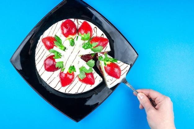 Ciasto truskawkowe z kremem waniliowym