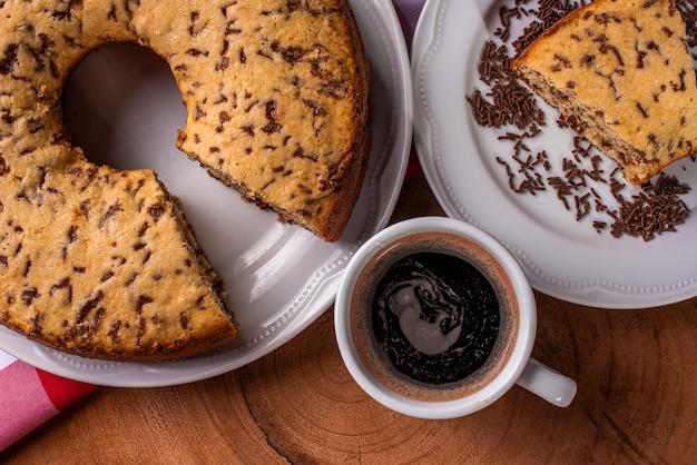 Ciasto waniliowe z posypką czekoladową